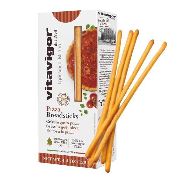 M クラッカー スナック菓子 イタリア 食品 海外 おつまみ ピザ味 スナック vitavigor(ヴィタヴィガー) グリッシーニ ピザ 125g×12個