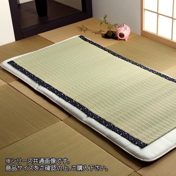 純国産 い草のシーツ(寝ござ) 『白水』 ブルー シングル約88×180cm 6507609