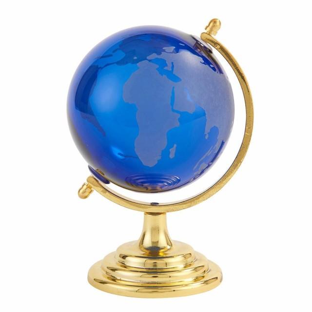 【同梱・代引き不可】オシャレ茶谷産業 Fun Science ガラス地球儀 ブルー 333-450BL