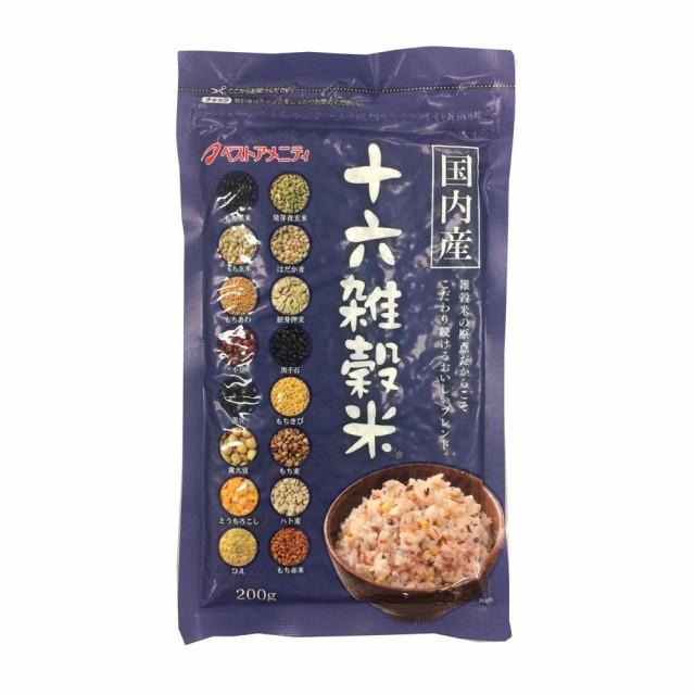 M 雑穀シリーズ 国内産 十六雑穀米(黒千石入り) 200g 12入 Z01-023