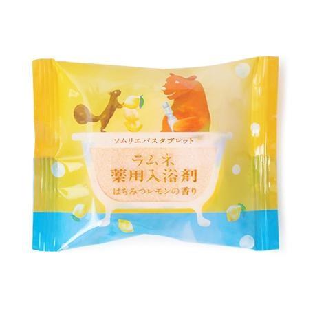 【同梱・代引き不可】ソムリエバスタブレット ラムネ薬用入浴剤 はちみつレモンの香り 12個入り