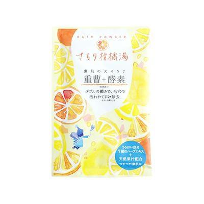 重曹+酵素バスパウダー  さらり柑橘湯 12個入り M