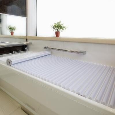 【同梱・代引き不可】ウェーブ型 浴槽 洗いやすいイージーウェーブ風呂フタ 90×130cm用 ホワイトふろふた 風呂ふた 風呂蓋 バス用品