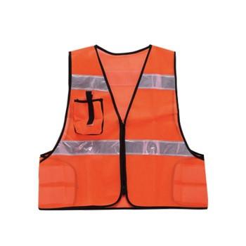 勝星 保安用品 安全ベスト 保安用オレンジ KA-930