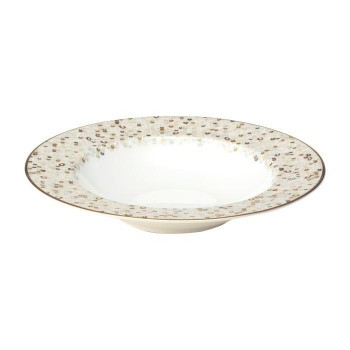 NIKKO ニッコー 23cmスープ皿 Spangles White 12471-0223 M