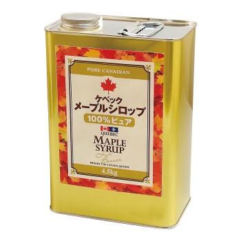 ケベックメープルシロップ GradeAダーク(ロバストテイスト) 4.5kg×2缶