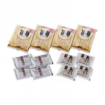 「旨麺」あごだし醤油ラーメンセット(磯紫菜付) 4食セット FA-4i