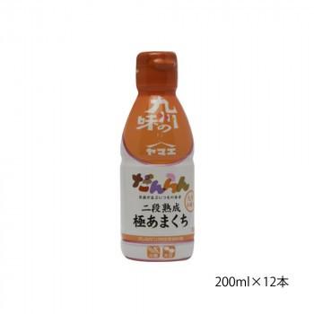 M ヤマエ 濃口醤油 だんらん極あまくちしょうゆ 200ml×12本
