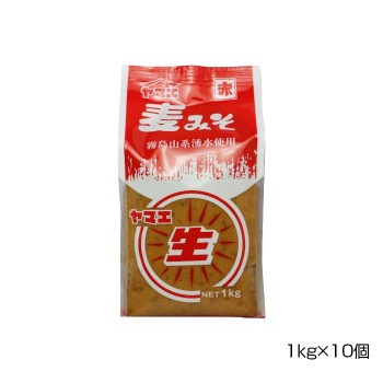 ヤマエ 赤生みそ(麦) 1kg×10個