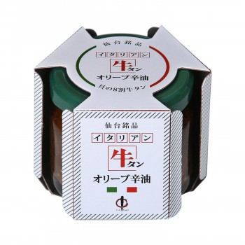 仙台・陣中 牛タン仙台ラー油 オリーブ辛油 100g 12個入り(送料無料)直送