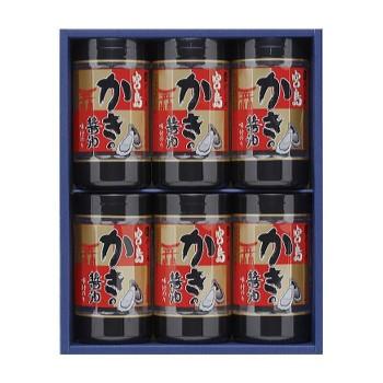 M やま磯 海苔ギフト 宮島かき醤油のり詰合せ 宮島かき醤油のり8切32枚×6本セット