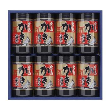 M やま磯 海苔ギフト 宮島かき醤油のり詰合せ 宮島かき醤油のり8切32枚×8本セット