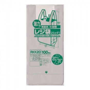 ジャパックス レジ袋 関東20号/関西35号 半透明 100枚×10冊×4箱 RKK20