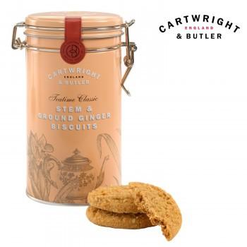 お菓子 C B 輸入菓子 イギリス クッキー ビスケット Cartwright&Butler カートライト&バトラー ステム・ジンジャービスケット 6缶 1004