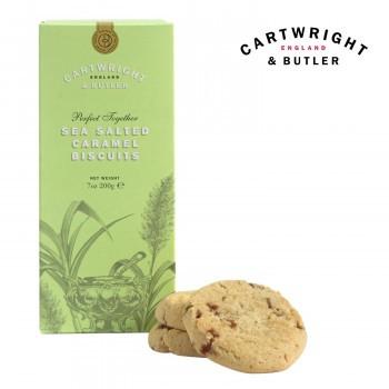 お菓子 イギリス クッキー C B ビスケット 輸入菓子 Cartwright&Butler カートライト&バトラー 塩キャラメルビスケット 6箱 10041051