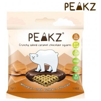 PEAKZ ピークズ ヘルシーチョコスナック クランチーチョコ 塩キャラメル 10袋 10701003 M