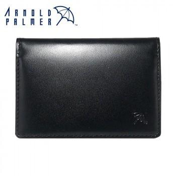 メンズ 免許証入れ 定期入れ Arnold Palmer アーノルドパーマー 牛革 2面パスケース 4AP3490BK- ブラック レザー 本革 ビジネス 父の日