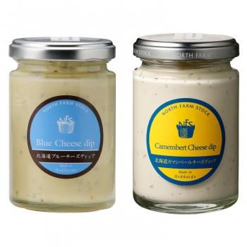 白亜ダイシン ノースファームストック 北海道チーズディップ 120g 2種 カマンベール/ブルーチーズ 6セット
