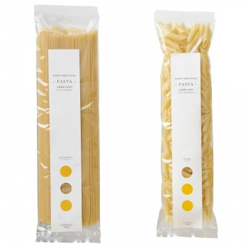 白亜ダイシン ノースファームストック 北海道産小麦のパスタ2種 スパゲティ250g/ペンネ200g 20セット