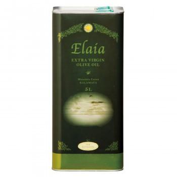 【同梱・代引き不可】そらみつ ギリシャ産エクストラバージンオリーブオイル EXエライアグリーン 5L缶(海)×4缶
