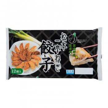餃子 ぎょうざ お徳用 本場プロの味 国産豚肉・野菜使用!松本一本ねぎ餃子 18g×12粒入 32パックセット ギョーザ 冷凍 信栄食品
