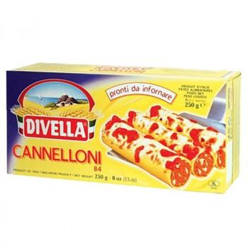 DIVELLA ディヴエッラ パスタ カネロニ 250g 24箱セット 606-200 (送料無料) 直送