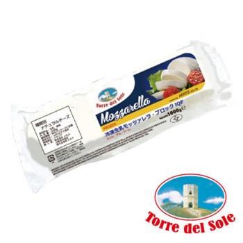 【同梱・代引き不可】トッレ・デル・ソーレ 冷凍モッツァレラ IQF ブロック 1kg 12袋セット 807-901