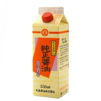 丸島醤油 純正醤油(濃口) 紙パック 550mL×4本 1234 (送料無料) 直送