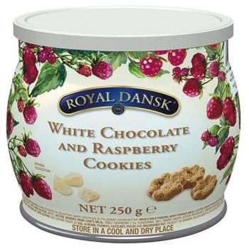 ロイヤルダンスク ホワイトチョコ&ラズベリークッキー 250g 12セット 011061 (送料無料) 直送
