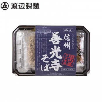 【同梱・代引き不可】渡辺製麺 国産半生信州善光寺蕎麦2人前つゆ付き 12個 5537