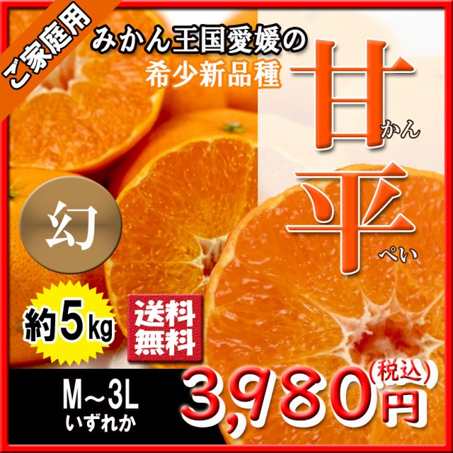 甘平 箱買い ご家庭用 訳あり かんぺい 幻の柑橘 愛媛県産 M〜3L 5kg 送料無料
