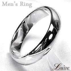 (リュイール)Luire メンズリング シンプル 甲丸4ミリ幅 甲丸指輪 結婚指輪 K18ホワイト/イエロー/ピンクゴールド