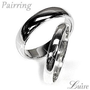(リュイール)Luire ペアリング 甲丸指輪 結婚指輪 K10ホワイトゴールド マリッジリング プレゼント 誕生日