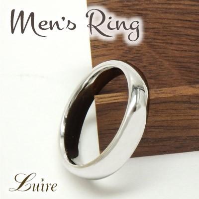 (リュイール)Luire 幅広 メンズリング 幅5mm 甲丸地金リング 結婚指輪 K10WG/YG/PG