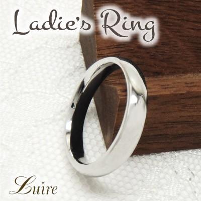(リュイール)Luire 幅3.5mm リング 甲丸地金リング 結婚指輪 記念日 プラチナ900