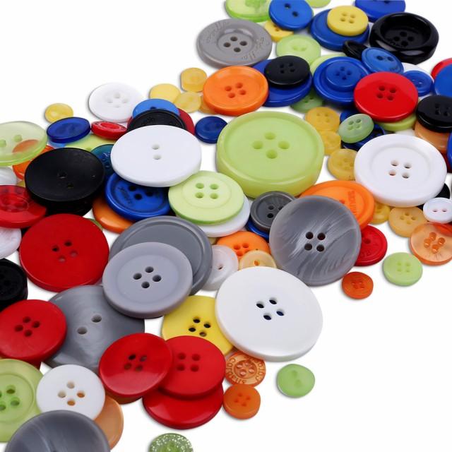 ボタン 500個 1cm〜3cm 裁縫 手芸 工芸 材料 補修 パーツ ソーイング DIY アクセサリー 丸型 丸形 円形 円型