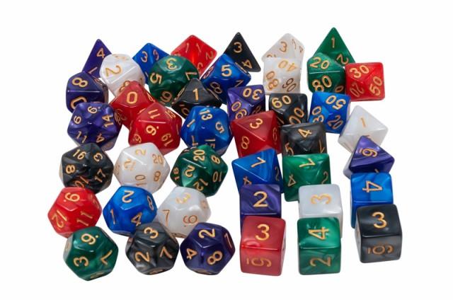 多面体 サイコロ ダイス セット 4面 6面 8面 10面 12面 20面 おもしろい おもちゃ TRPG RPG ボードゲーム すごろく ゲーム 送料無料