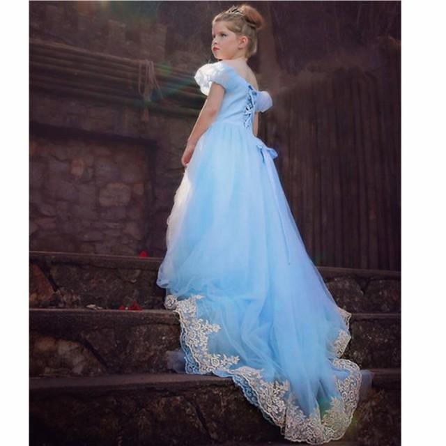 a5b7d2f6b4a7e ディズニープリンセス 子供用ドレス キッズ シンデレラ ワンピース なりきりワンピース プリンセスドレス 子どもドレス プリンセス