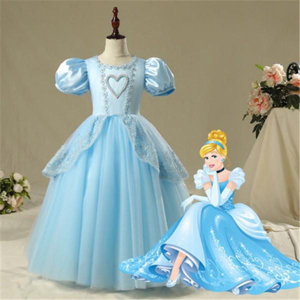 5cb9abeb42a45 ディズニープリンセス 子供用ドレスシンデレラ 仮装 キッズ コスチューム 女の子 半袖