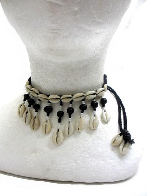 タカラガイエスニックチョーカーエスニックアジアンアクセサリー エスニックアジアンファッション