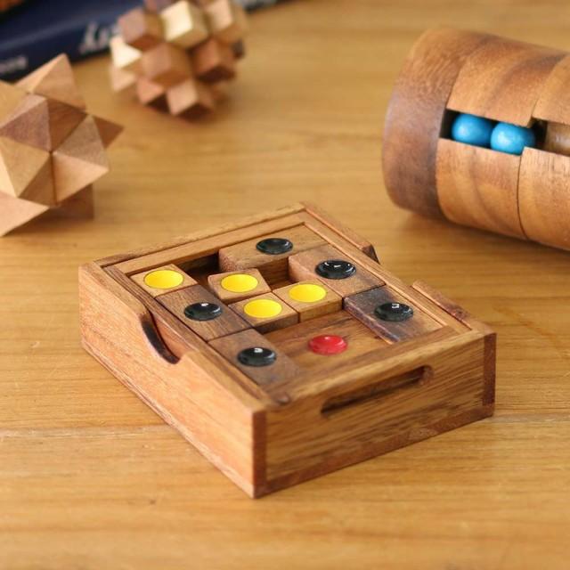 木製 ゲーム 脱出パズルゲーム 家族で遊べるゲーム スライディング ルール インテリア アンティーク