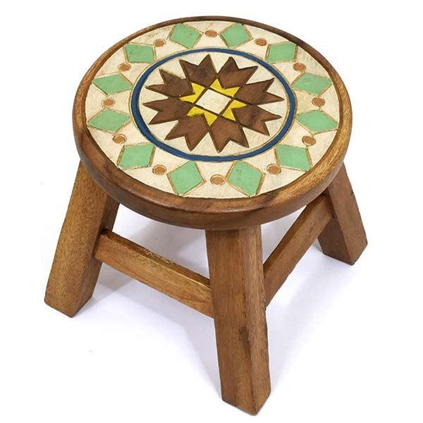 ネイティブ スツール 木製 グランピング アンティーク 椅子 インテリア