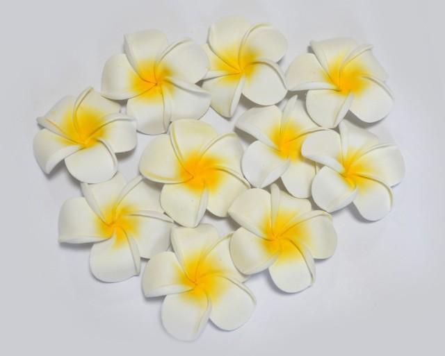 プルメリア 造花 大 20P フローティングフラワー ハワイアン 置物