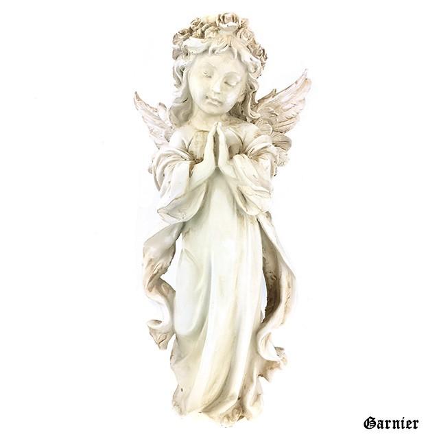 天使 エンジェル 置物 オブジェ オーナメント アンティーク調 ロココ調 装飾 インテリア ガーデン 祈る天使 開運