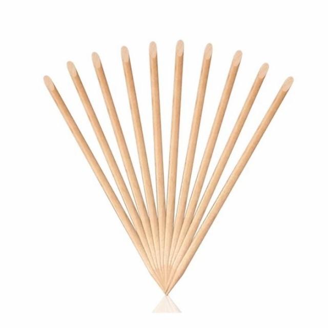 [LALONA] ネイル ウッドスティック ( 10本入 ) ( 15cm ) オレンジスティック ネイルアート/ネイルツール/甘皮処理/はみ出し処理/ケア用