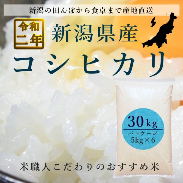 米 コシヒカリ 新潟 白米 30kg 5kg×6袋 令和2年産 送料無料 本州四国限定 離島を除く
