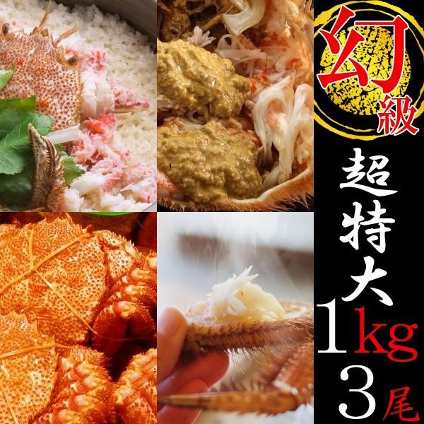 [かに 蟹]毛ガニ特大(毛蟹 数量限定 最高級 北海道産)1kg×3尾 送料無料 お歳暮 年末指定可