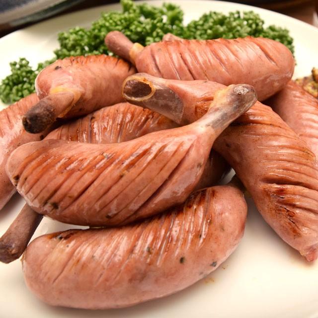 骨付きポークソーセージ 10本入 豚肉 粗びき 骨付きウィンナー BBQ バーベキュー