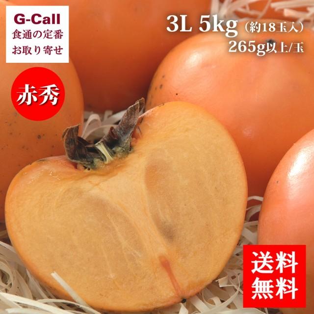 送料無料 JA鳥取いなば 鳥取県産 赤秀 花御所柿 はなごしょがき 3L 5kg 約18玉入