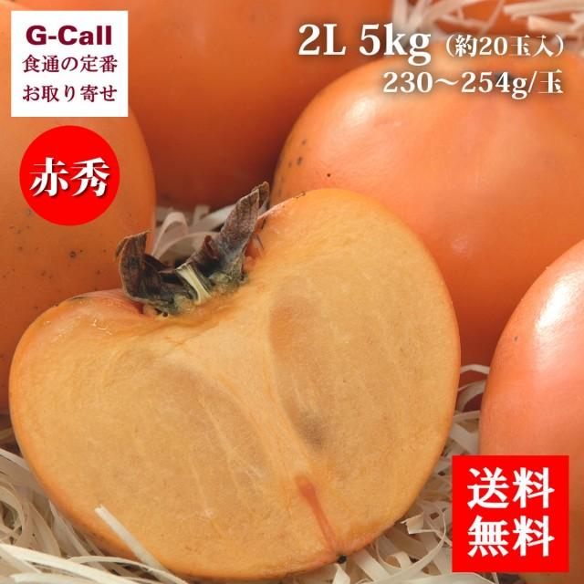 花御所柿 赤秀 2L 5kg 約20玉入 JA鳥取いなば 送料無料 はなごしょがき 鳥取県産
